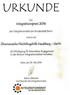 Integrationspreis 2016 für OeFH
