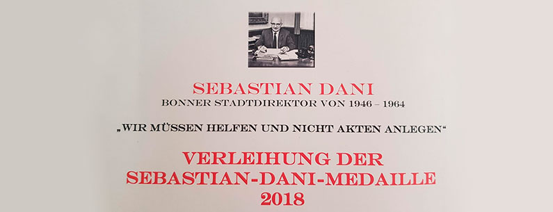Ökumenische Flüchtlingshilfe erhält Sebastian-Dani-Medaille